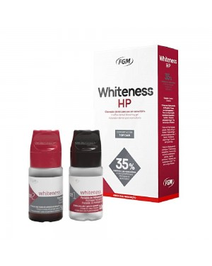 Kit Clareador Dental Whiteness HP 35% 3 pacientes com TopDam - FGM